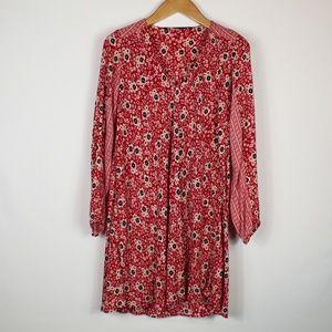 Zara | Red floral print dress L